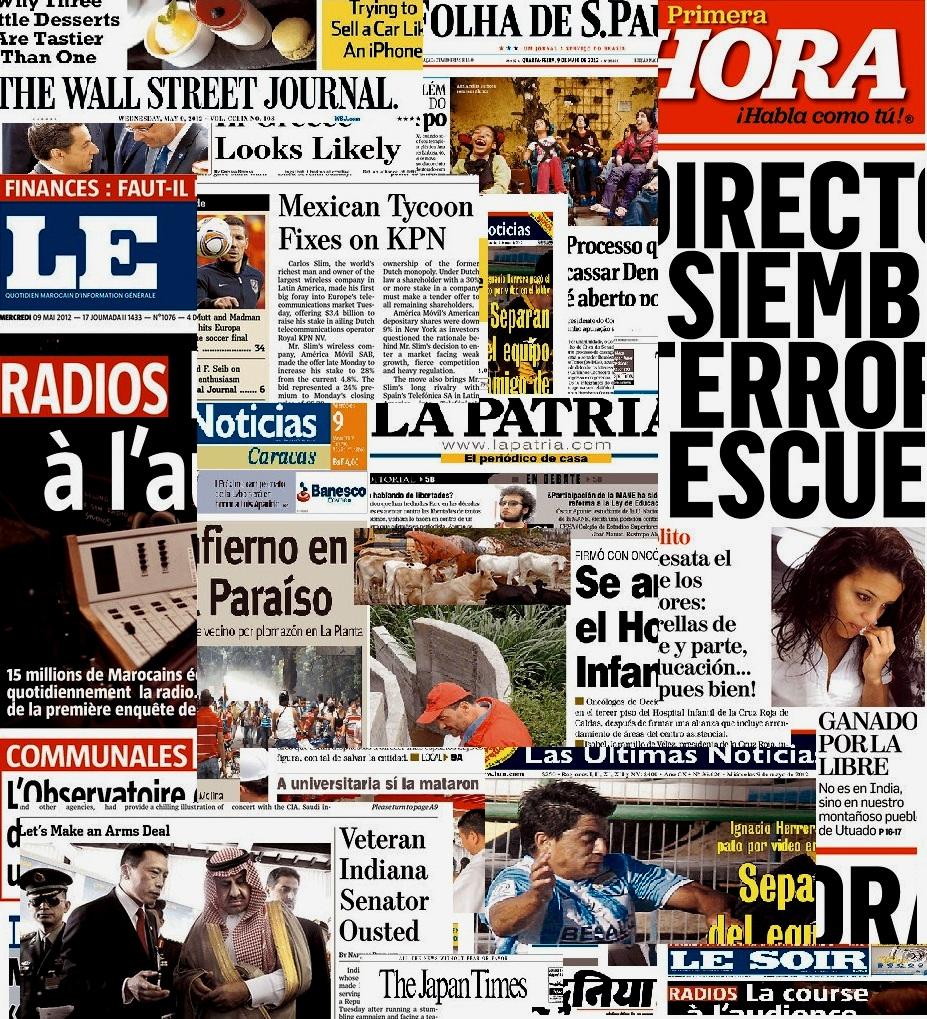 Clique aqui e acesse as capas dos principais jornais do mundo.